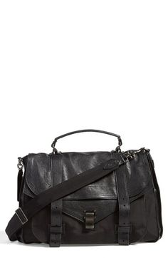 e8ffa34d9c Proenza Schouler  Extra Large PS1  Nylon  amp  Leather Messenger Bag  Shopping Bag