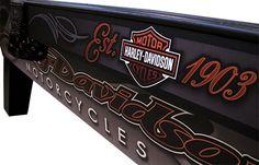 Harley Davidson Signs, Harley Davidson Merchandise, Harley Davidson Motorcycles, Davidson Homes, Custom Pool Tables, Harley Davison, Billiards Pool, Automotive Decor, Moto Bike