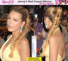 Blake Lively Red Carpet Hair