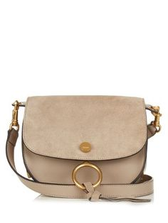 9d2b1c159521 Kurtis small suede and leather cross-body bag