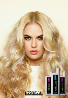 Stephanie for L'oreal Hair Chalks