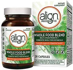 Align Whole Food Blend Multi-strain Probiotic Supplement 28 Capsules for sale online Probiotic Brands, Probiotic Foods, Vegan Gluten Free, Dairy Free, Whole Food Recipes, Health, Vitamins, Walmart, Salud