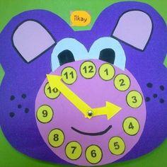 bear clock craft idea (4) Preschool Arts And Crafts, Cd Crafts, Montessori Preschool, Crafts For Kids, Preschool Teachers, Clock Craft, Craft Materials, Worksheets, Free Printables