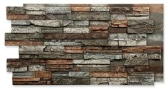 The Wellington line of faux panels duplicates a natural look of stacked stone on a high quality material. Large variety of attractive finishes available. Faux Stone Panels, Faux Panels, Faux Brick, Exposed Brick, Whitewashed Brick, Interior Walls, Interior Design Living Room, Brick Face, Stone Facade