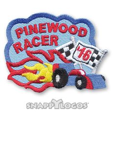 Pinewood Racer '16 Fun Patch | Snappylogos, Inc.-Snappylogos.com