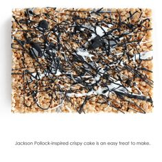 Jackson Pollock-Inspired Krispy Treats and the recipe.
