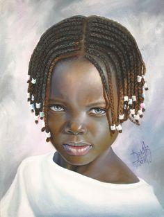 Niña de raza negra Dora Alis Mera V.- Artelista.com