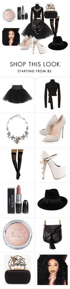 """We look nice right"" by startista on Polyvore featuring Ballet Beautiful, Cushnie Et Ochs, Oscar de la Renta, Casadei, ZiGiny, Mademoiselle Slassi, Chloé, Alexander McQueen and Kylie Cosmetics"