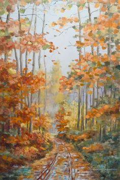 Último ouro do Outono___ óleos/tela 90x60cm www.arteborgmann.blogspot.com