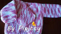 Mais uma casaquinho de bebê, tricotado na vertical, saindo da agulha. São muito fáceis de tricotar.     Encontrei a receita no endereço htt...