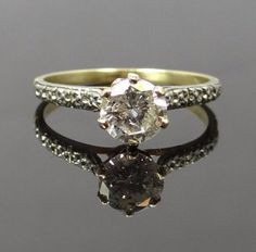 Pretty Art Nouveau Flower Side Diamond Engagement by MSJewelers, $2415.00 - I would never want anyone to spend this much, but this ring is beautiful!
