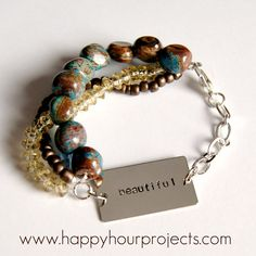 A must read for jewelry designers from happyhourprojects.com. She goes through the thinking processes that go along with making sure the bracelet balances on the wrist when wearing beautifully made jewelry.