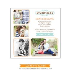 INSTANT DOWNLOAD - Photography Marketing board - 5x5 Newsletter  template -E498-4