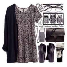40 Cool Outfit Ideas for Your Fall Inspiration Trendy Fall Outfits, Pretty Outfits, Casual Outfits, Fall Fashion Trends, Autumn Fashion, Grunge Fashion Winter, Mode Outfits, Fashion Outfits, Nerd Fashion