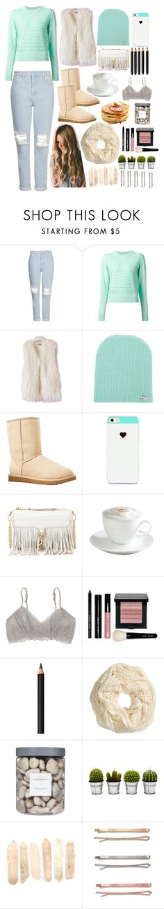 """Winter is coming"" by michulich1 ❤ liked on Polyvore featuring Topshop, 3.1 Phillip Lim, Neff, UGG Australia, BlissfulCASE, Rebecca Minkoff, Sur La Table, Madewell, Bobbi Brown Cosmetics and Masquerade"