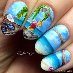 Beach Nail Art Designs
