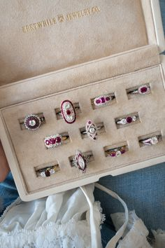 Ruby Vintage Engagement Rings || Erstwhile