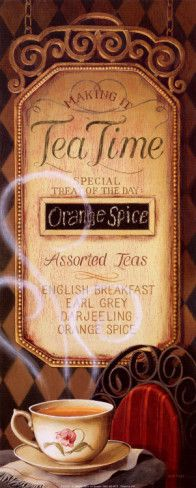 Tea Time Menu by Lisa Audit