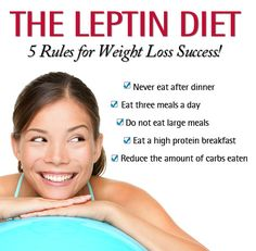 The Leptin Diet 5 Rules. The Leptin Diet is the secret to getting more energy from less food! #leptindiet