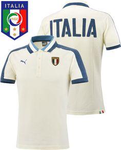 イタリア代表2016 アズーリ ポロシャツ (ウィスパーホワイト&ダークデニム)