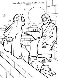 Coloring page jesus and nicodemus. Jesus And Nicodemus Coloring Page - AZ Coloring Pages. Nicodemus Coloring Page - AZ Coloring Pages. Jesus Loves Everyone Coloring Page. Sunday School Projects, Sunday School Activities, Bible Activities, Sunday School Lessons, School Ideas, Bible Story Crafts, Bible Stories For Kids, Bible School Crafts, Bible For Kids