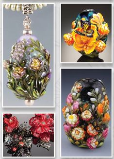 Dolly Ahles Palmer has been making soft glass beads since 1995. She has taken many workshops and classes to pick up new skills, and has traveled to Murano, Italy to study with glass masters Lucio  Bubaccio and Shane Fero.