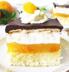 Prajitura cu jeleu de mandarina si portocala - Agendautila Biscotti, Vanilla Cake, Desserts, Food, Bakken, Postres, Deserts, Hoods, Meals