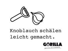HOW TO: Knoblauch ganz easy schälen. - GORILLA