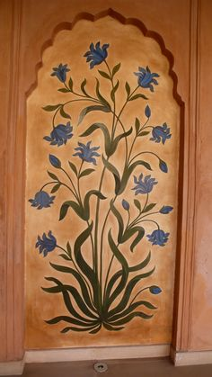 The Oberoi Hotel in Agra - Yoga by Fran Gallo Mughal Paintings, Indian Art Paintings, Islamic Art Pattern, Pattern Art, Folk Art Flowers, Flower Art, Decoration, Art Decor, Wall Painting Decor