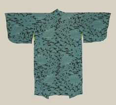 Mid-Showa era (1940-1960). Jinken (rayon) material was once more expensive than silk in Japan: this material has a pleasing, rough crepe-like texture.. The inner upper lining is shibori (tie-dye).