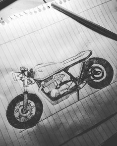 Honda cb 650 cafe racer sketch