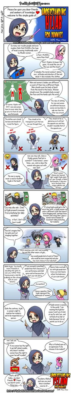 "Peace be upon you, here is the first course of ""Understanding Islam for dummies"" introduced by teacher Miss Noor:"" Understanding Hijab for dummies"". Religion, Islam Women, Islam Muslim, Muslim Pray, All About Islam, Islamic Quotes, Islamic Prayer, Islamic Messages, Muslim Quotes"