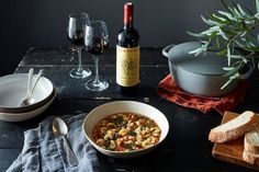 Pasta, Beans, and Bread Hold Each Other Gently In This Brothy Tuscan Soup