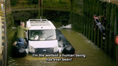 """""""I'm the wettest a human being has ever been!"""" Richard Hammond and the Hover-van"""