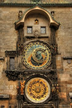Prague -- astronomical clock tower.
