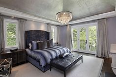 Hardwood, Crown molding, Contemporary, French, Chandelier