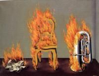 the ladder of fire 1936, 54x73cm, Oil On Canvas,