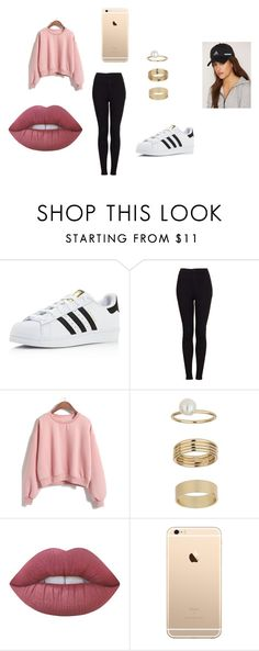 """""""fyt"""" by egla-omambia on Polyvore featuring adidas, Topshop, Miss Selfridge and Lime Crime"""