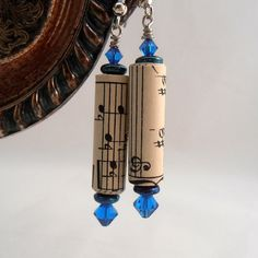 Paper Beads made from upcycled sheet music