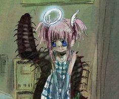 Pretty Art, Cute Art, Emo Art, Gothic Anime, Cybergoth, Creepy Cute, Cute Icons, Aesthetic Anime, Gore Aesthetic