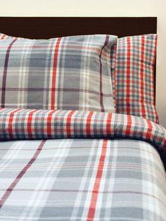 M&Co. Homeware Lewis check brushed cotton duvet set