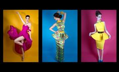 SS2014 Fabryan - stunning colorful peplum dresses