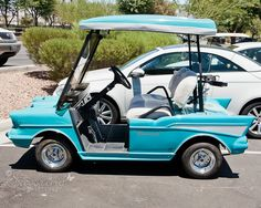 1950's themed golf cart....lol