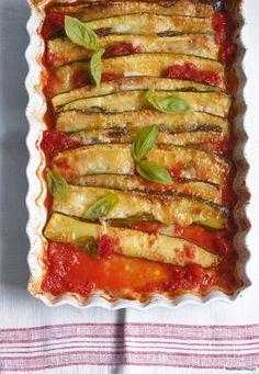 In Tomatensauce mit Mozzarella und Parmesan überbacken, heiß geliebt und ruck, zuck vernascht.