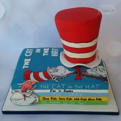 Dr Seuss cake, cake pops and iced biscuits - Creative Cakepops