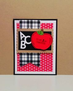 Teacher Appreciation Cards, Teacher Cards, Teacher Gifts, Fall Cards, Christmas Cards, Dandelion Wish, Scrapbooking, Stampin Up Catalog, Letter Patterns