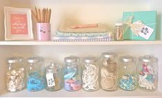 Ikea jars for getting organized this year :O)   via @beachcomber