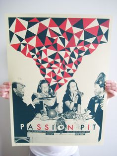 Poster for Passion Pit's New Years Eve 2011 shows