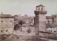 1852/55 calotipista non identificato . Panorama di Roma preso da San Pietro in Vincoli.