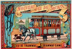 French Tramway Game Poster, C. 1895